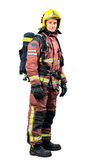 Full length portrait of Fireman. Royalty Free Stock Photos