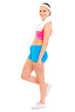 Full length portrait of fitness girl Royalty Free Stock Photography