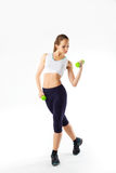 Full length portrait of fitness young woman Stock Image