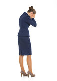 Full length portrait of frustrated business woman Stock Images