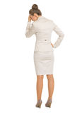 Full length portrait of frustrated business woman Royalty Free Stock Image