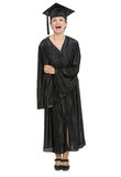 Full length portrait of graduation student woman Royalty Free Stock Image