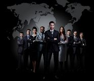 Full-length portrait of group of business people. Stock Image