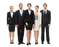 Full-length portrait of group of executives Royalty Free Stock Photography