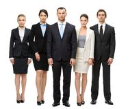 Full-length portrait of group of managers Royalty Free Stock Photos