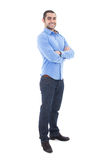 Full length portrait of handsome arabic business man isolated on. White background Stock Photo