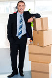 Full length portrait of handsome businessman Royalty Free Stock Images