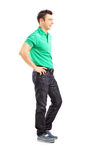 Full length portrait of a handsome casual man posing Stock Image