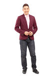 Full length portrait of a handsome male model posing Royalty Free Stock Photography
