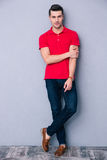 Full length portrait of a handsome man Royalty Free Stock Photos