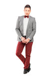 Full length portrait of a handsome stylish male posing Royalty Free Stock Photos