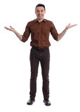 Full length portrait of handsome young man. Stock Photo