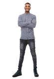 Full length portrait of a happy african american man Stock Image
