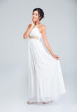 Full length portrait of a happy attractive bride Royalty Free Stock Image
