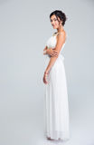 Full length portrait of a happy bride Royalty Free Stock Image