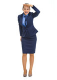 Full length portrait of happy business woman Royalty Free Stock Photos