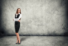 Full length portrait of a happy businesswoman Royalty Free Stock Image