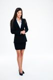 Full length portrait happy businesswoman Royalty Free Stock Image