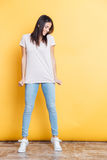 Full length portrait of a happy casual woman Stock Photo