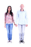 Full length portrait of happy couple in love Stock Image