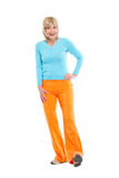 Full length portrait of happy elderly woman Royalty Free Stock Image