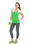 Full length portrait of happy fitness young woman Royalty Free Stock Photography