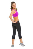 Full length portrait of happy fitness young woman Royalty Free Stock Photo