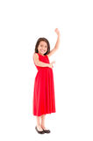 Full length portrait of a happy little girl Stock Photos