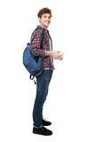Full length portrait of a happy male student Royalty Free Stock Images