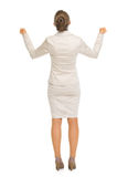 Full length portrait of happy rejoicing success Stock Image