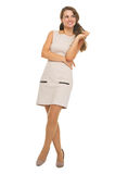 Full length portrait of happy young woman looking on copy space Stock Photo