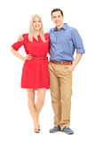 Full length portrait of husband and wife posing Royalty Free Stock Photography