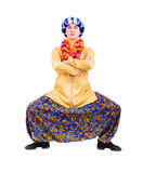 Full length portrait of indian man dancing Royalty Free Stock Image