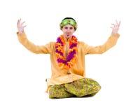 Man doing yoga exercises Stock Photography