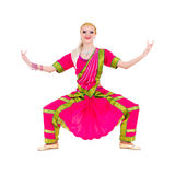 Full length portrait of indian woman dancing Royalty Free Stock Photography