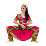 Full length portrait of indian woman dancing Royalty Free Stock Photo