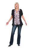 Full length portrait of laughing senior woman Stock Photo
