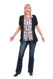 Full length portrait of laughing senior woman. Full length portrait of happy senior woman stock photo