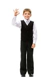 Full-length portrait of little businessman okay gesturing Stock Photography