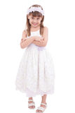 Full length portrait of a little girl Stock Photos