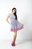 Full-length portrait of lovely woman in romantic dress Stock Image