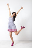 Full-length portrait of lovely woman in romantic dress Stock Photography