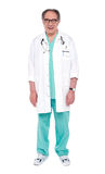 Full length portrait of a male doctor Royalty Free Stock Images
