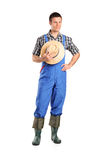 Full length portrait of a male farmer posing Stock Photography