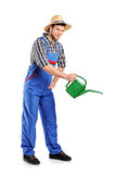 Full length portrait of a male gardener Royalty Free Stock Photography