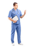 Full length portrait of a male medical practitioner in a uniform Stock Photography