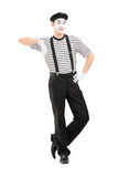 Full length portrait of a male mime artist posing Stock Photography