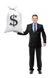 Full length portrait of a man holding a bag Stock Photography