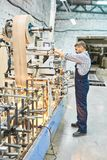 Mature Man Working at Modern Factory stock images