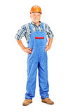 Full length portrait of a mature manual worker Royalty Free Stock Photo